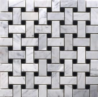 CARRARA BASKET WEAVE MOSAIC TILES