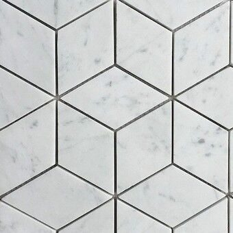 CARRARA CUBE MOSAIC TILES