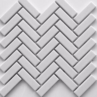 porcelain herringbone white