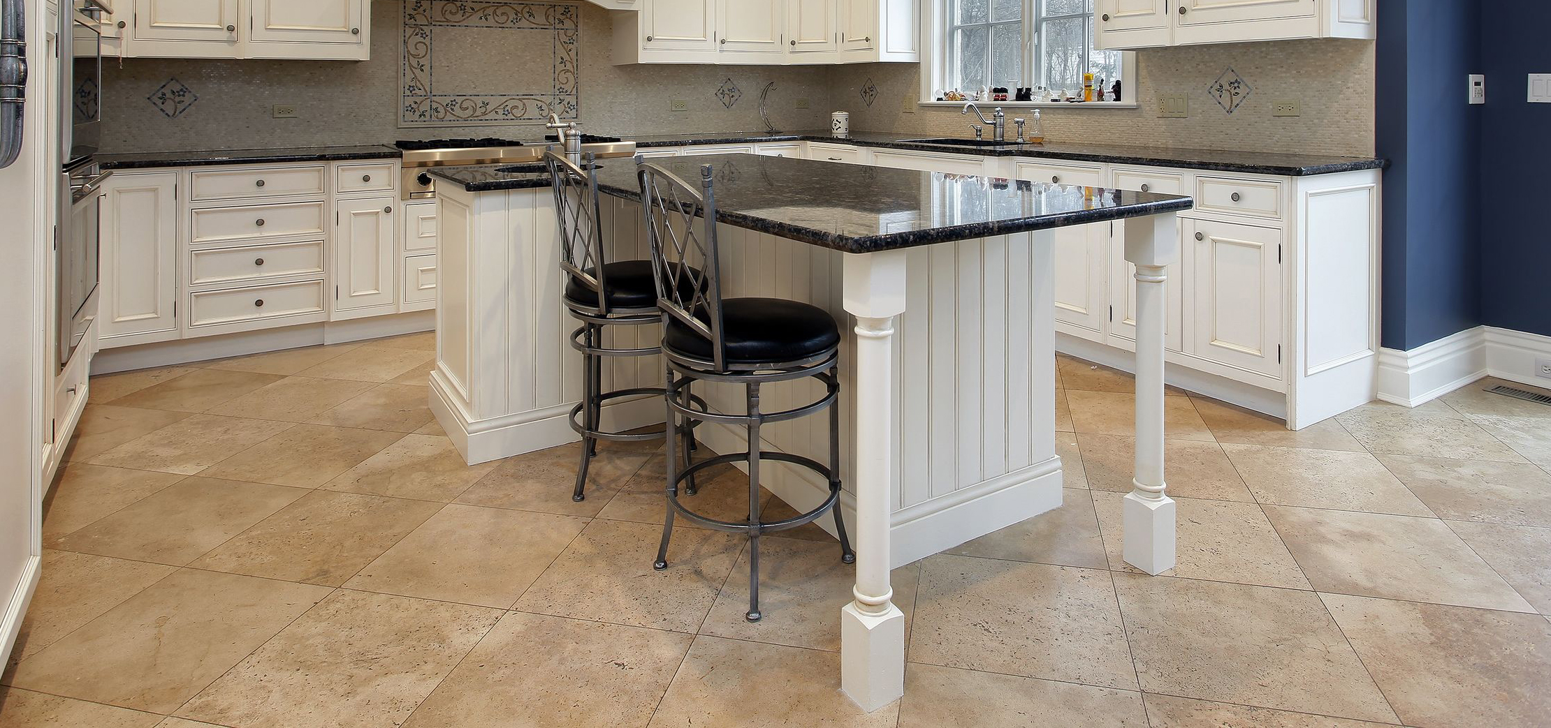 kitchen travertine tiles and pavers