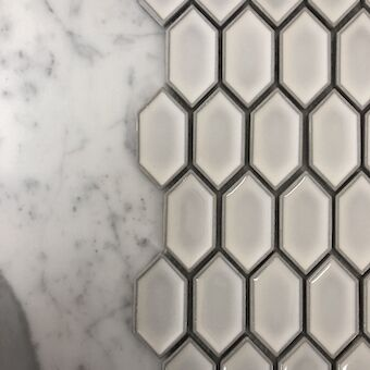 Squeezed Hexagon Ceramic Tiles